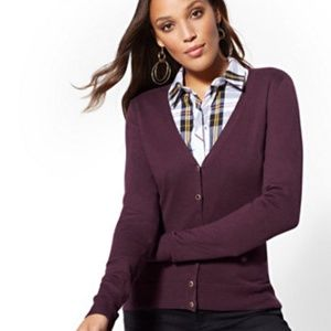 NY & Co JEWELED V-NECK CHELSEA CARDIGAN  NWT